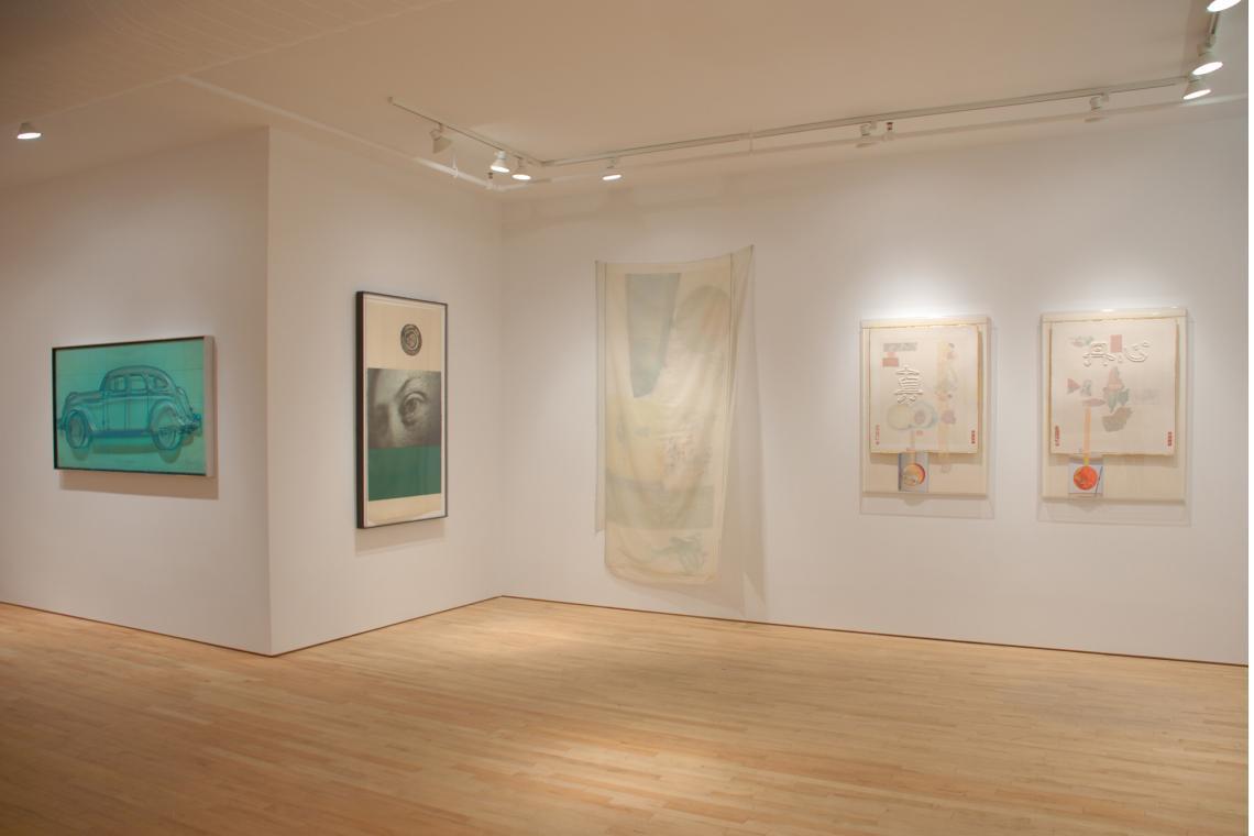 Claes Oldenburg, Profile Airflow, 1969, Ann Hamilton, visite ii, 2009; Robert Rauschenberg,Scent, 1974;  Robert Rauschenberg, Truth, 1982; Red Heart, 1982