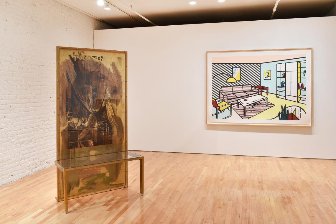 Robert Rauschenberg, Borealis Shares II, 1990; Roy Lichtenstein, Modern Room, 1991.