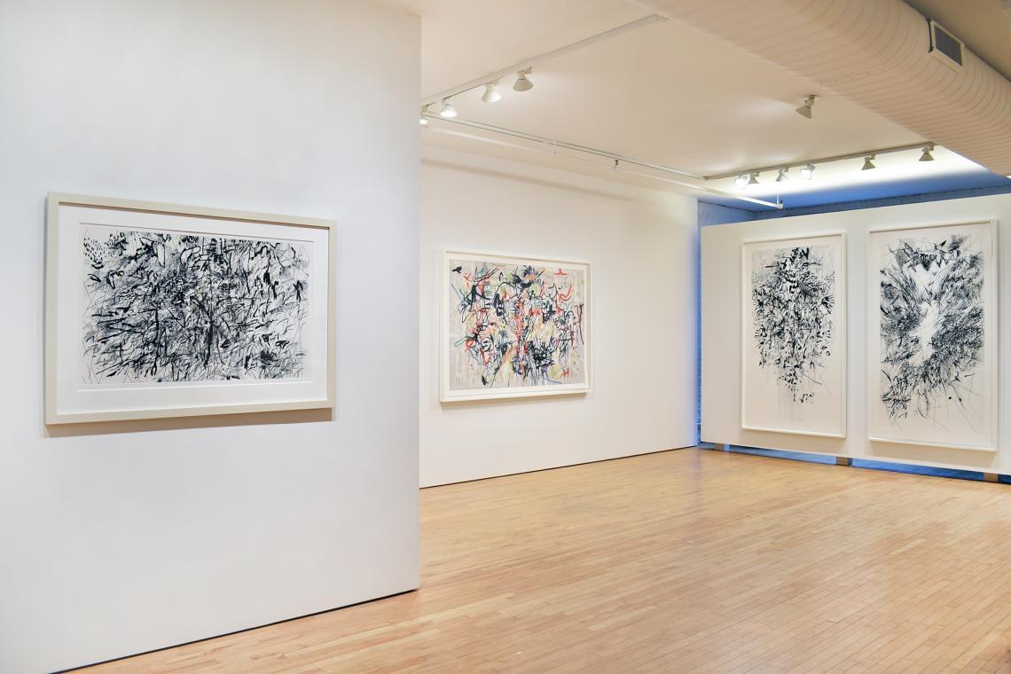 Julie Mehretu-A Decade of Printmaking at Gemini GEL-installation view