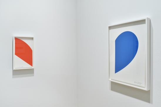 Ellsworth Kelly, Red Curve, 2006; Small Blue Curve, 2012.