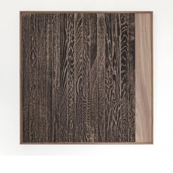 Analia Saban, Wooden Floor On Wood (Vertical), 2017