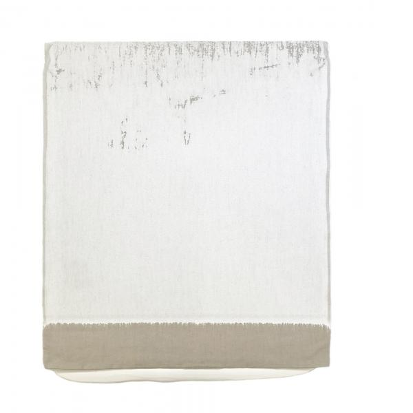 Analia Saban, Pressed Paint (Titanium White), 2017