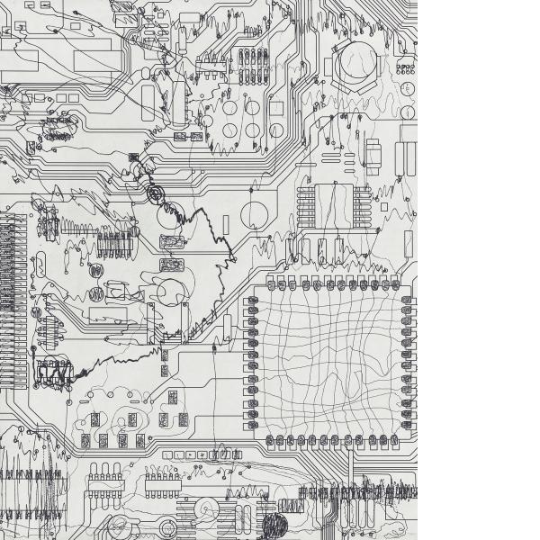 Analia Saban, Circuit Board #5, 2021