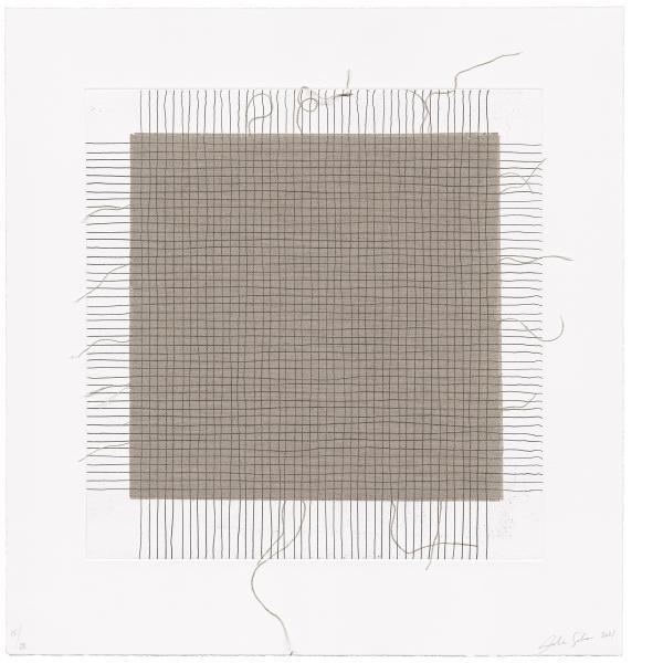 Analia Saban, Transcending Grid, Black (with Fringes), 2021