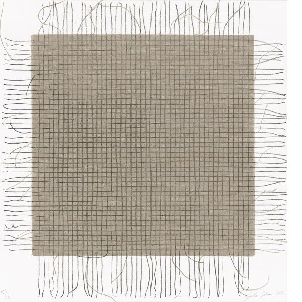 Analia Saban, Transcending Grid (Black), 2021