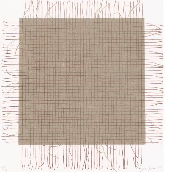 Analia Saban, Transcending Grid (Red), 2021