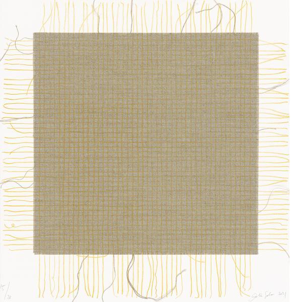Analia Saban, Transcending Grid (Yellow), 2021