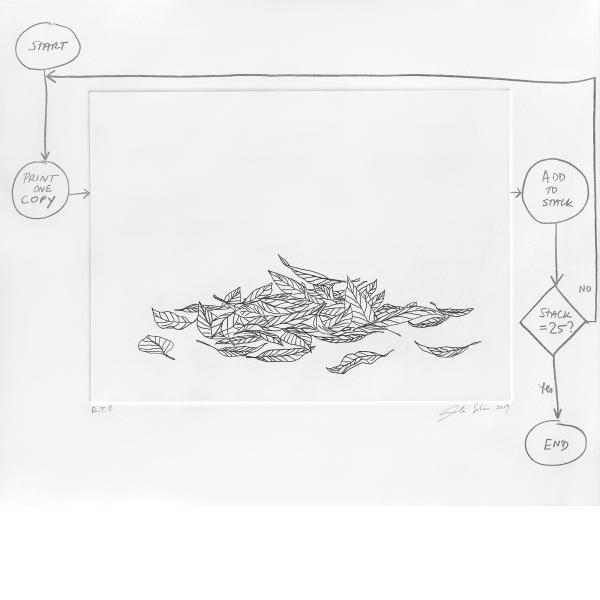 Analia Saban, Flowchart (Leaves), 2020