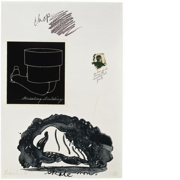 Claes Oldenburg, Notes (Kneeling Building), 1968