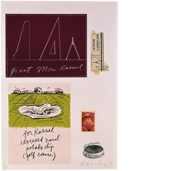 Claes Oldenburg, Notes (Kassel), 1968