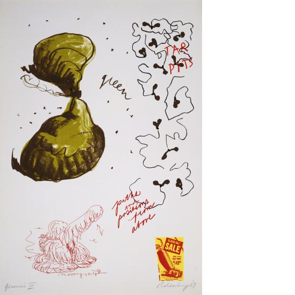 Claes Oldenburg, Notes (Tar Pits), 1968