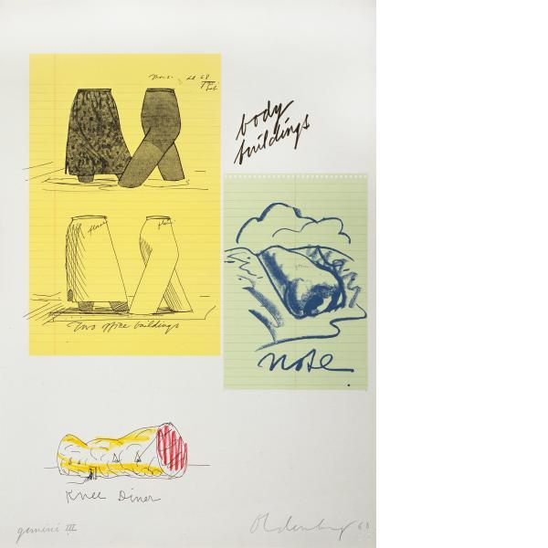 Claes Oldenburg, Notes (Body Building), 1968