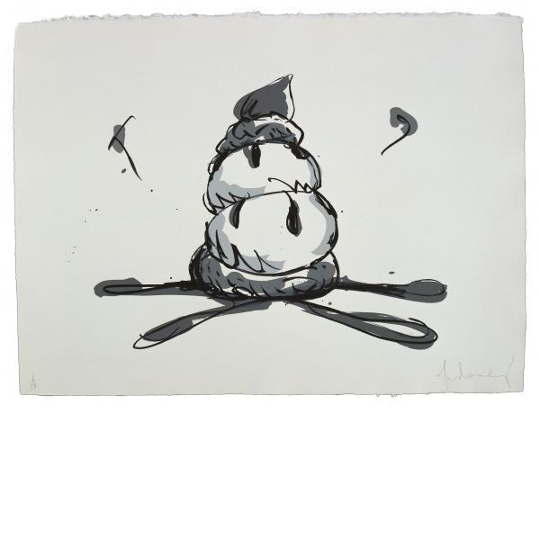 Claes Oldenburg, Profiterole - Gray State, 1990