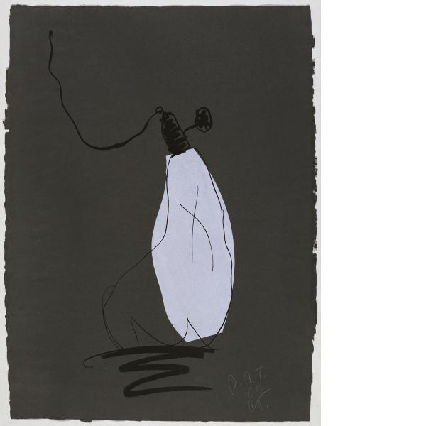 Claes Oldenburg, Soft Light Bulb - Night, 1997