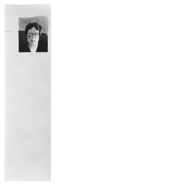 David Hockney, Michael Crichton, 1976
