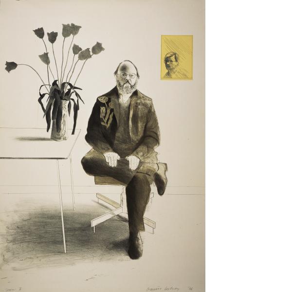 David Hockney, Henry with Tulips, 1976
