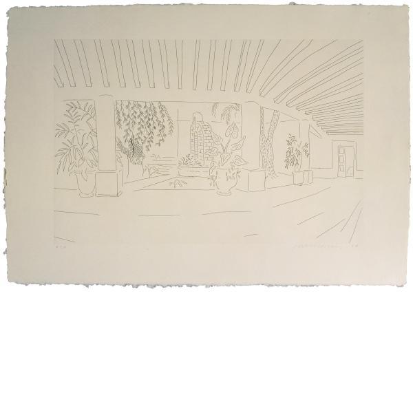 David Hockney, Mexican Hotel Garden, 1984