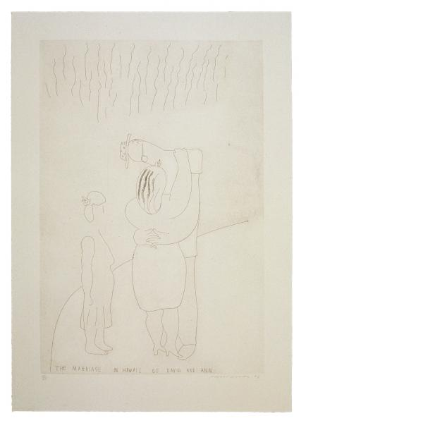 David Hockney, The Marriage in Hawaii of David and Ann, 1984