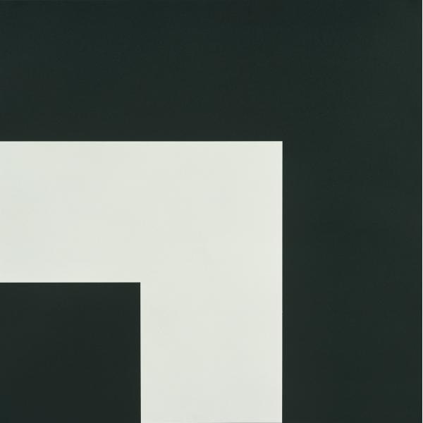 Ellsworth Kelly, Two Blacks and White, 2000