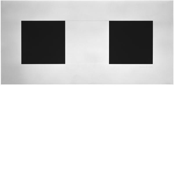 Ellsworth Kelly, Two Blacks and White, 1973