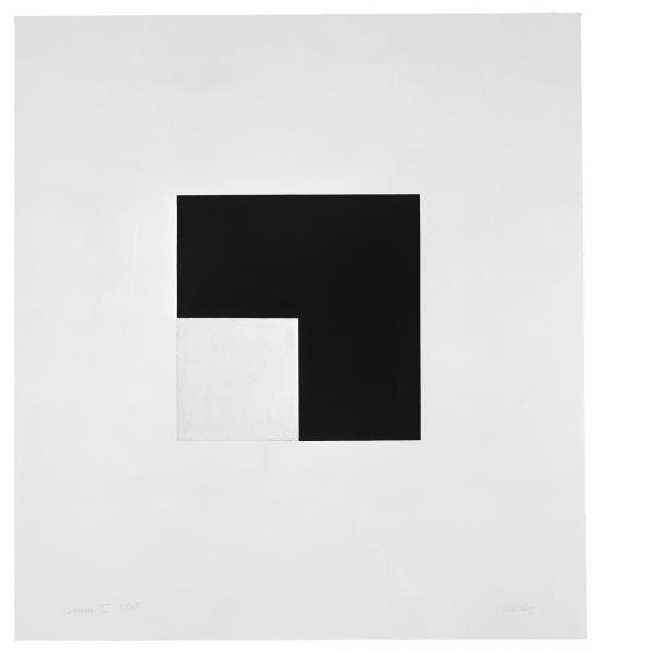 Ellsworth Kelly, Square with Black (State), 1982