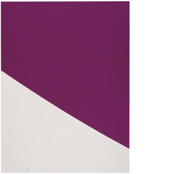 Ellsworth Kelly, Purple Curve, 2000