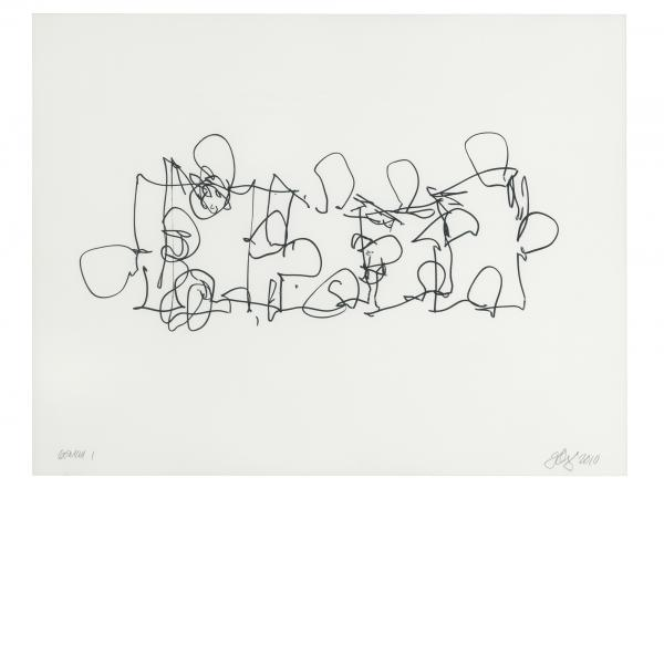 Frank Gehry, Puzzled #3 (Black State), 2012
