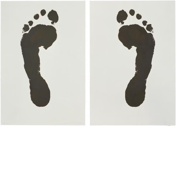 Jonathan Borofsky, Foot Print (Left) and Foot Print (Right), 1986