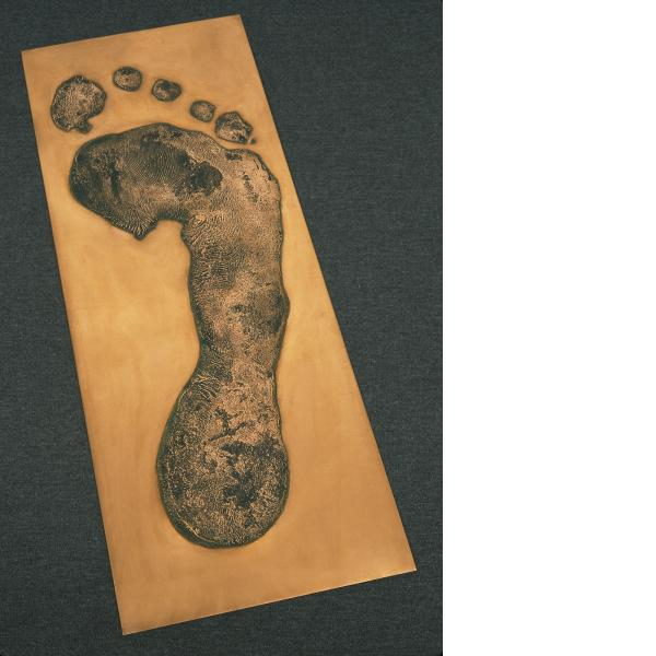 Jonathan Borofsky, Foot Print in Copper (Right), 1986