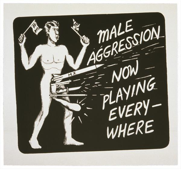 Jonathan Borofsky, Male Aggression, 1986