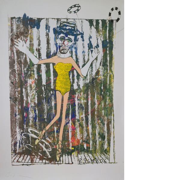 Jonathan Borofsky, Dancing Clown at No. 29647**, 1986
