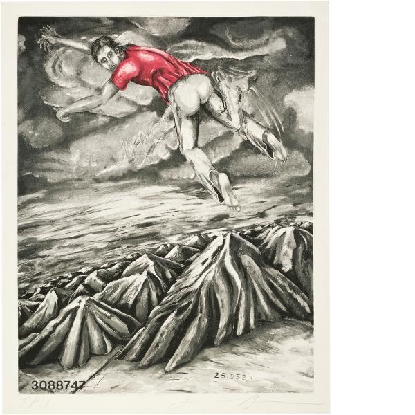 Jonathan Borofsky, I Dreamed I Could Fly at No. 3088748, 1989