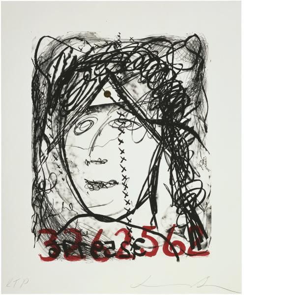Jonathan Borofsky, Self-Portrait With Gold Dot, 1991