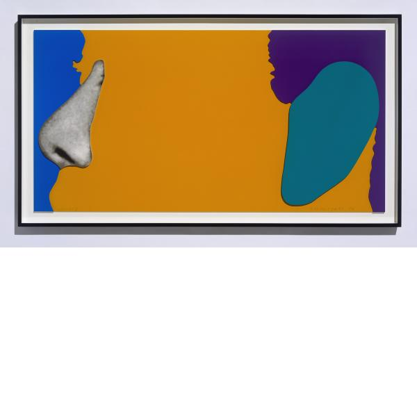 John Baldessari, Noses & Ears, Etc.: Face with Nose and (Green) Ear, 2006