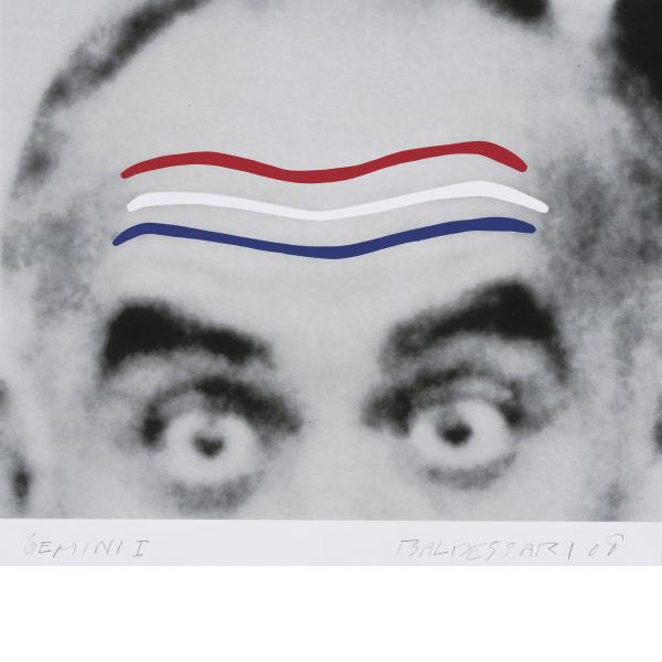 John Baldessari, Raised Eyebrows/Furrowed Foreheads (Red, White and Blue), 2008