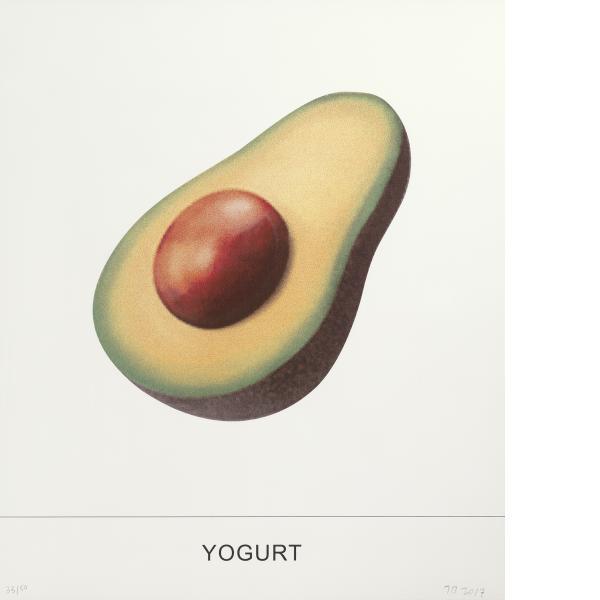 John Baldessari, Yogurt, 2018