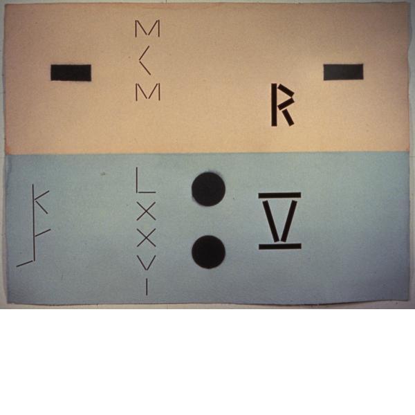 Keith Sonnier, Abaca Code-Rectangles RV, 1976