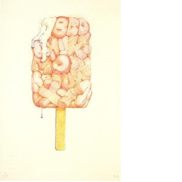 Claes Oldenburg, Alphabet in the Form of a Good Humor Bar, 1970
