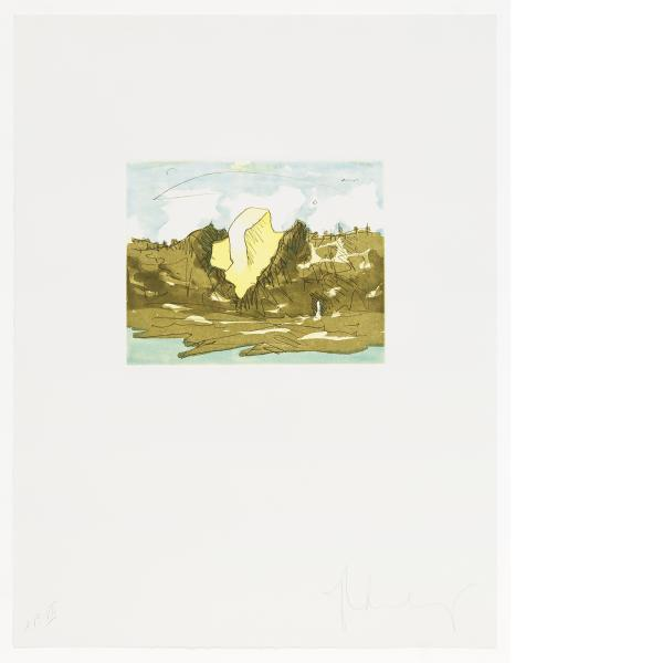 Claes Oldenburg, Butter Pat in Berkeley Hills, 1976