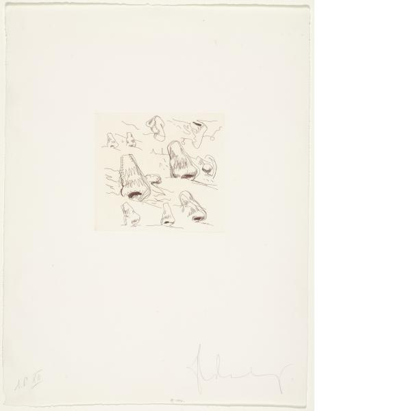Claes Oldenburg, Landscape with Noses, 1976