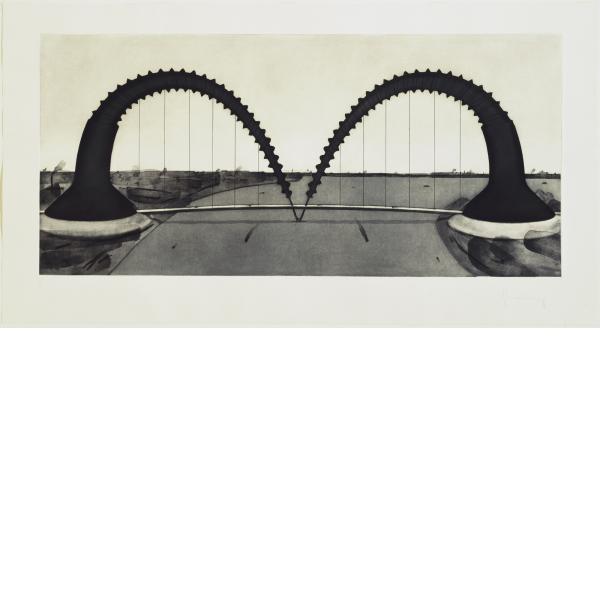 Claes Oldenburg, Screwarch Bridge (State II), 1980