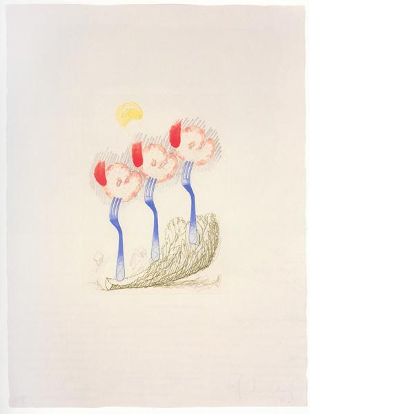 Claes Oldenburg, Thoughts About the French Revolution While Eating a Shrimp Salad, 1989