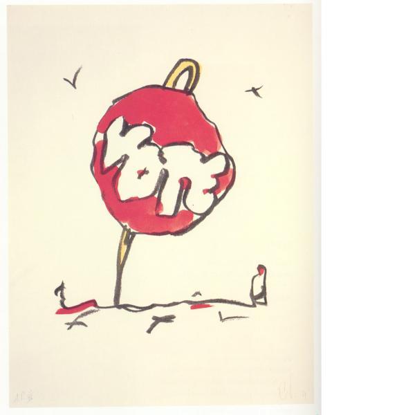 Claes Oldenburg, Voting Button in Landscape, 1984