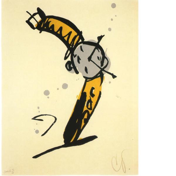 Claes Oldenburg, Wrist Watch Rising, State II, 1991