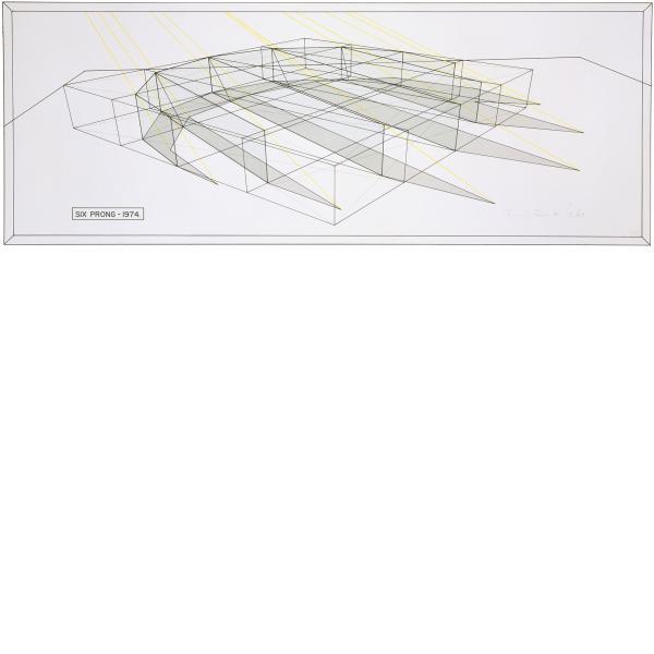 Ronald Davis, Six Prong - Perspective Line, 1974