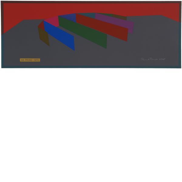 Ronald Davis, Six Prong - Color, 1974