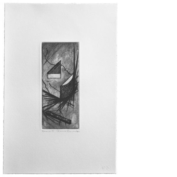 Ronald Davis, Drypoint Lambda, 1981