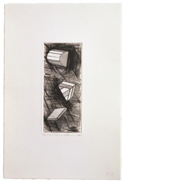 Ronald Davis, Drypoint Nu, 1981
