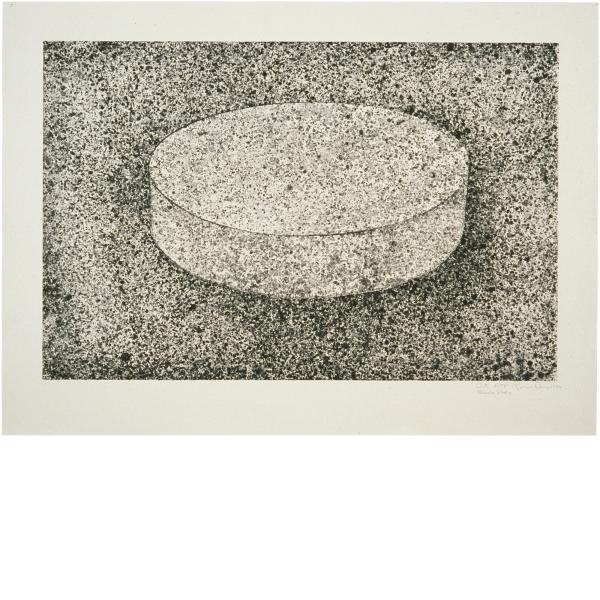 Ronald Davis, Disc Slab (Black State), 1983