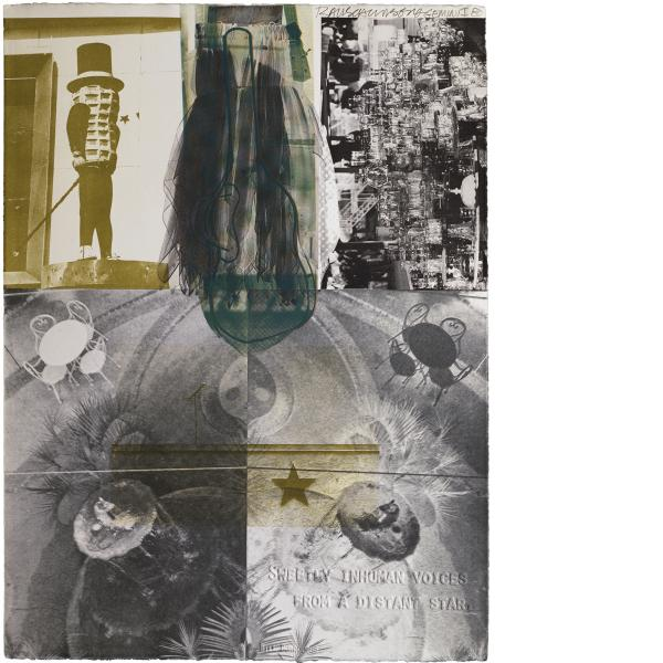 Robert Rauschenberg, American Pewter with Burroughs III, 1981
